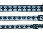 """Šifra: 15606 """"navajo"""" ogrlica (xs-s), 22-35cm/15mm, crno-sivi"""