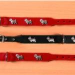 Sifra: 15711 Ogrlica westie,kozna, 42cm/22-26mm, crna
