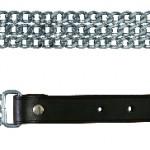 Sifra: 21821 Troredna metalna ogrlica sa kozom, 55cm