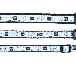 """Sifra: 16129 Ogrlica """"impression"""" (l-xl), 40-65cm/25mm, crno/belo"""