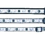 """Sifra: 16127 Ogrlica """"impression"""" (s-m), 30-45cm/15mm, crno/belo"""