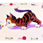 Sifra: 24544 Podmetac comic cat, 44 x 28 cm