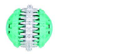 Šifra: 32942 Dentafun lopta, mintfresh, prirodna guma, 7.5 cm