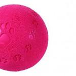 Šifra: 34842 Lopta, prirodna guma, sa zvukom, 9.5 cm,bodljikava