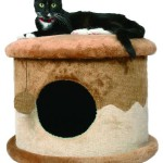Šifra: 4339 Cat-house, 50 x 32 cm, beige-brown