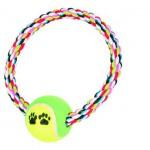 Šifra: 3266 Pamucni prsten sa teniskom loptom, 18cm/6.4cm
