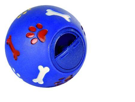 Šifra: 3491 Lopta sa otvorom za grickalice, plastika, 14.5cm