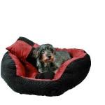 """Šifra: 37533 Krevet za pse """"jamiro"""",90x75cm,somot/crni-cigla"""