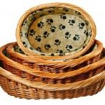 Šifra: 28211 Pletena korpa za pse, sa sapicama, 50cm