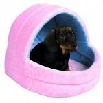 "Šifra: 3683 Kucica za pse ""dooley"", 40x35x35 cm ,plavo - roza"