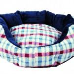 "Šifra: 37303 Krevet za pse ""champ"",90 cm,karirani plavo-bordo"