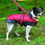 "Šifra: 30633 ""calais"" mantil za pse, s, 35 cm,crno/bordo"