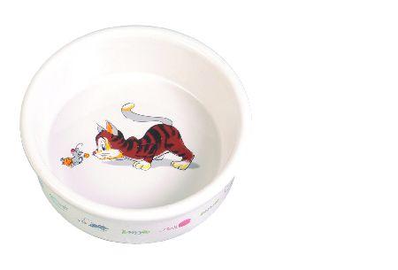 Šifra: 4014 Cinija za macke, keramika, dupla, 2x0.15l/11cm