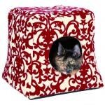Šifra: 36341 Kucica za macke, 35x33x35cm, crveno-krem