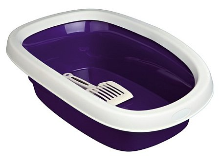 "NOVO Šifra: 40116 Toalet za mačke ""carlo 1"",sa lopaticom,43 cm, ljubičasto/krem"