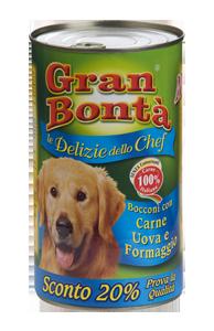 Šifra: 4178 Monge - gran bonta delizie chef komadici mesa za odrasle pse premium sa ukusom mesa, jaja i sira