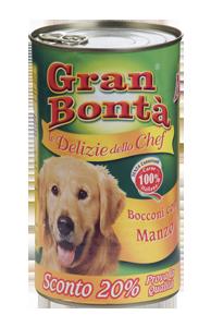 Šifra: 4186 Monge - gran bonta delizie chef komadici mesa za odrasle pse premium - sa ukusom govedine