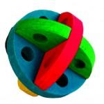 Šifra: 6185 Lopta za igru i poslastice za glodare, drvo , 8,5 cm