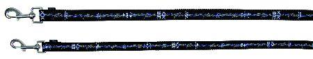 Šifra: 15891 Modern art rebel dog povodac, (m-l) 1m/20mm, crni