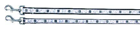 "Šifra: 16121 Povodac ""impression"" (m-l), 1m/20mm, crno/belo"