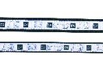 "Šifra: 16120 Povodac ""impression"" (xs-s), 1.2m/15mm, crno/belo"