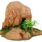 Šifra: 8848 Stena sa rupom i biljkama, 21x14,5x14,5 cm,