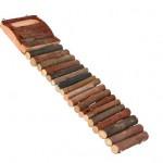 Šifra: 6106 Merdevine za hrcka, drvo, 18 precnika, 27.5 x 7 cm