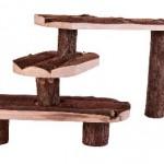 Šifra: 6214 Stepenice za male zivotinje, prirodno drvo, 38 x 24
