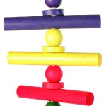 Šifra: 5196 Igracka za papagaje, drvo, bunt, 37 cm