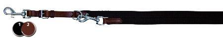 Šifra: 19681 Povodac basic, koza,sa nitnama 1m/13mm, crni