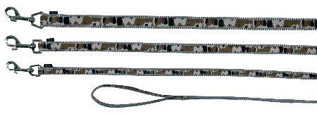 Šifra: 15909 Silver camou, povodac (l-xl),1,00 m/25 mm