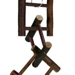 Šifra: 5885 Igracka za ptice od drveta, 6 precki, 58 cm