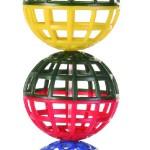 Šifra: 5251 3 resetkaste loptice na lancu sa zvoncem, 4,5 cm
