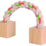 Šifra: 6186 Uze sa drvenim kockicama za hrcka 20 cm